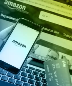 Using a phone and laptop to shop on Amazon - partners